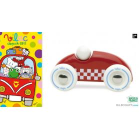 Voiture en bois Mini Rallye Checkers - Rouge