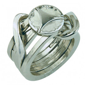 Cast Puzzle metal Ring 2 - Level 5
