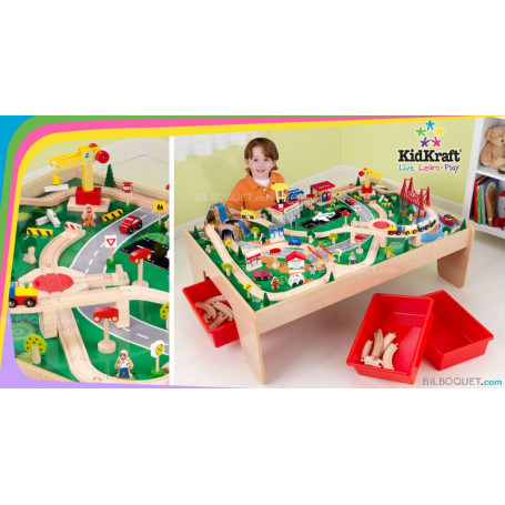 Waterfall Mountain Train Table And Set 120 Pieces