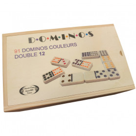 91 dominos couleurs - Double 12