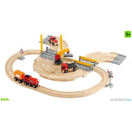 Circuit rail/route Transfert de marchandises