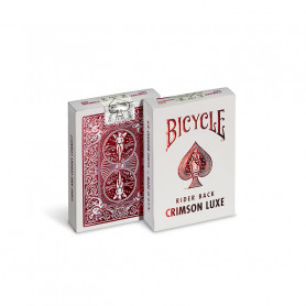 Card game to make magic - Crimson luxe bicycle rider back - red