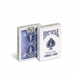 Card game to make magic - cobalt luxe bicycle rider back - blue