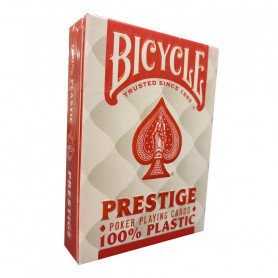 Jeu de cartes poker prestige 100% plastique