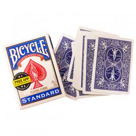Jeu de cartes pour faire de la magie - double dos bleu