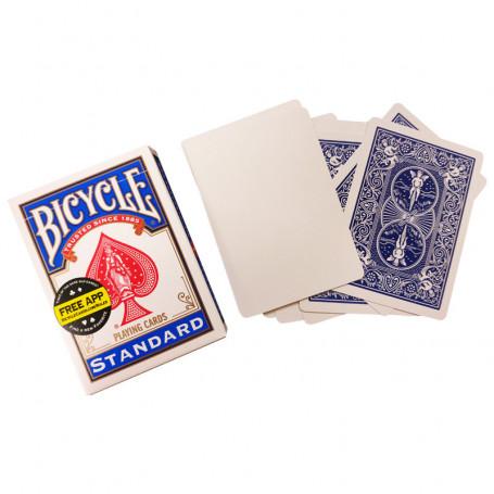 Jeu de cartes pour faire de la magie - Face blanche dos bleu