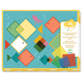 Gommettes repositionnables - Des carrés magiques
