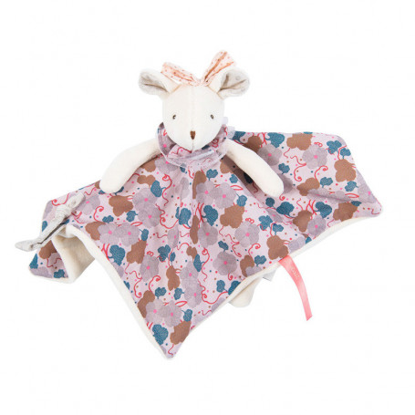 Baby comforter pink patterned mouse