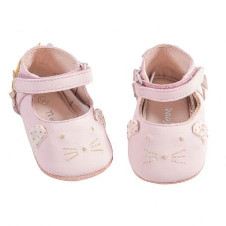 Pink leather slippers - Il était une fois