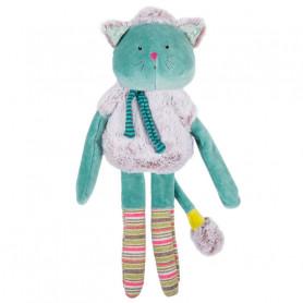Baby comforter blue cat