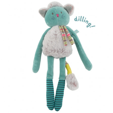 Doudou-hochet chat bleu
