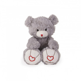 Bear Soft Toy, grey, 31 cm