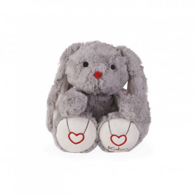 Rabbit Soft Toy, grey, 31 cm