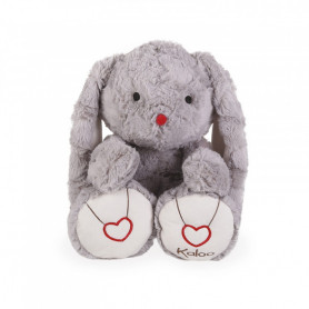 Rabbit Soft Toy, grey, 38 cm