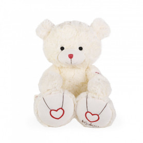 Bear Soft Toy, cream, 38 cm