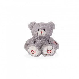 Bear Soft Toy, grey, 22 cm