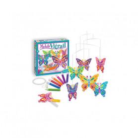 Mobile Vitrail Papillons à colorier
