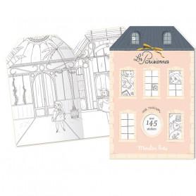 Cahier Maison de 145 stickers  - Les parisiennes