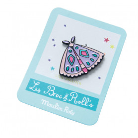 Enamelled pin brooch - Butterfly