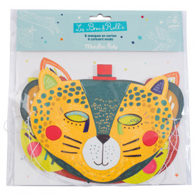 Set of 6 cardboard masks - boys