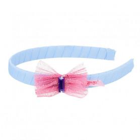 Serre-tête Marthe, nœud rose - Accessoire pour les filles