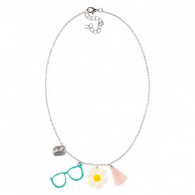 Anneli Necklace, Bezel and daisy - Accessory for girls