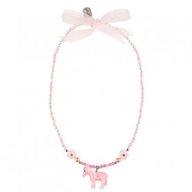 Necklace Cira, pink pony - Accessory for girls