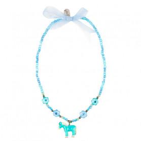 Collier Ebby, poney bleu - Accessoire pour les filles