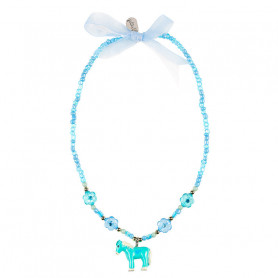 Necklace Ebby, blue pony - Accessory for girls