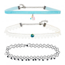 Necklaces, blue - Accessory for girls