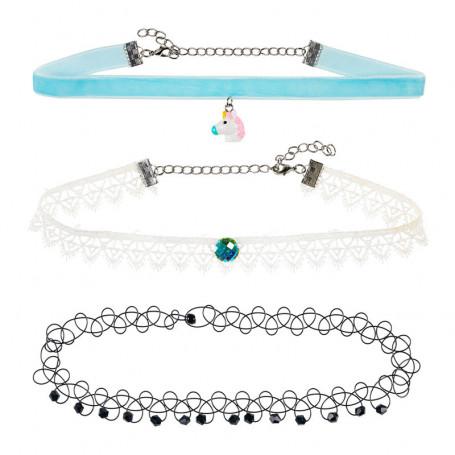 Colliers ras-du-cou Lone, bleu - Accessoire pour les filles