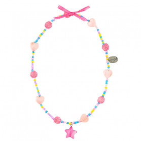 Necklace Karina, pink starfish - Accessory for girls