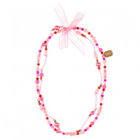 Necklace Trixy, pink fuchsia - Accessory for girls