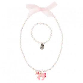 Collier et bracelet Angel, licorne rose - Accessoire pour les filles