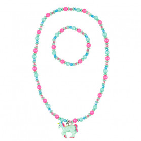 Necklace and Bracelet Aike, unicorn - Accessory for girls