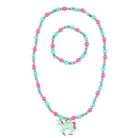 Collier et Bracelet Aike, licorne - Accessoire pour les filles