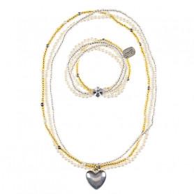 Collier et Bracelet Liv, coeur - Accessoire pour les filles