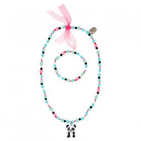 Collier et Bracelet Vera, panda - Accessoire pour les filles