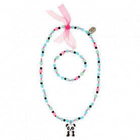 Necklace and Bracelet Vera, panda - Accessory for girls