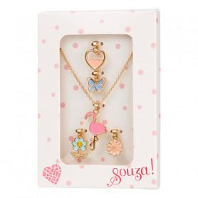 Collier avec 5 pendentifs, or - Accessoire pour les filles