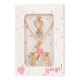 Necklace & charms, gold - Accessory for girls