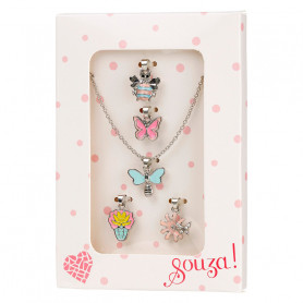 Necklace & charms, silver - Accessory for girls
