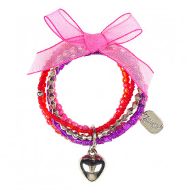 Bracelet pink Jolita, heart - Accessory for girls