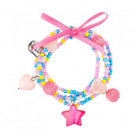 Bracelet Karina, pink star - Accessory for girls