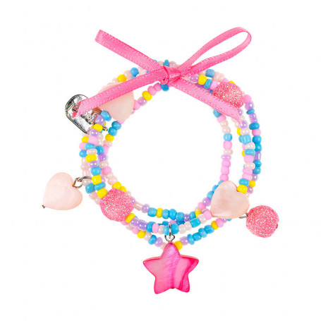Bracelet Karina, pink star - Accessory for girls