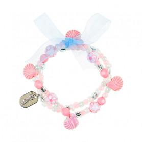 Bracelet Poppie rose, coquillages - Accessoire pour les filles