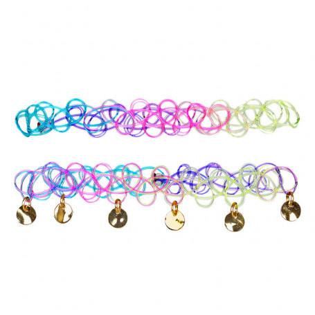 Bracelets Yola, multicolore à médaillons - Accessoire pour les filles