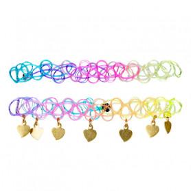 Bracelets Yola, multicolore à coeurs - Accessoire pour les filles