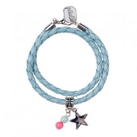 Bracelet 2 tours Karien, bleu - Accessoire pour les filles
