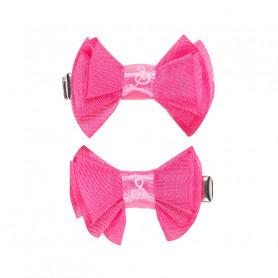 Pinces à cheveux Jente, noeud rose - Accessoire pour les filles